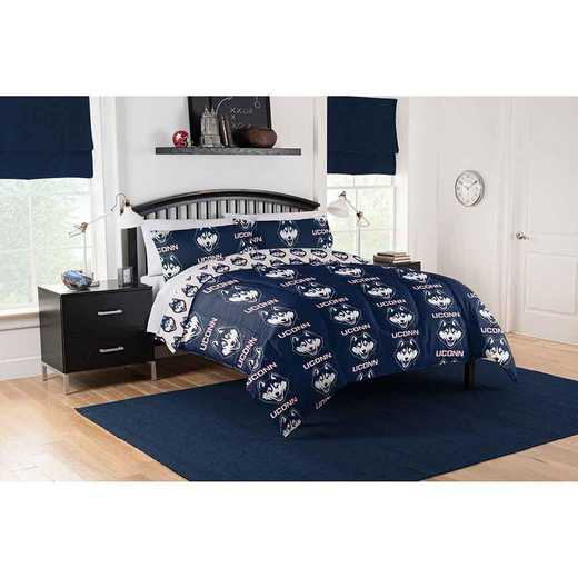 1COL875000001EDC: COL 875 Connecticut Huskies Queen Bed In a Bag Set