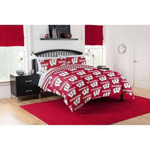 1COL875000003EDC: COL 875 Wisconsin Badgers Queen Bed In a Bag Set