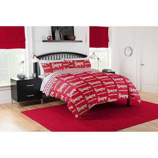 1COL875000006EDC: COL 875 Nebraska Cornhuskers Queen Bed In a Bag Set