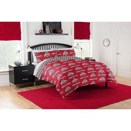 1COL875000007EDC: COL 875 Ohio State University Buckeyes Queen Bed In a Bag Set
