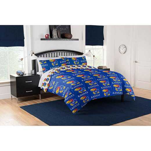 1COL875000008EDC: COL 875 Kansas Jayhawks Queen Bed In a Bag Set