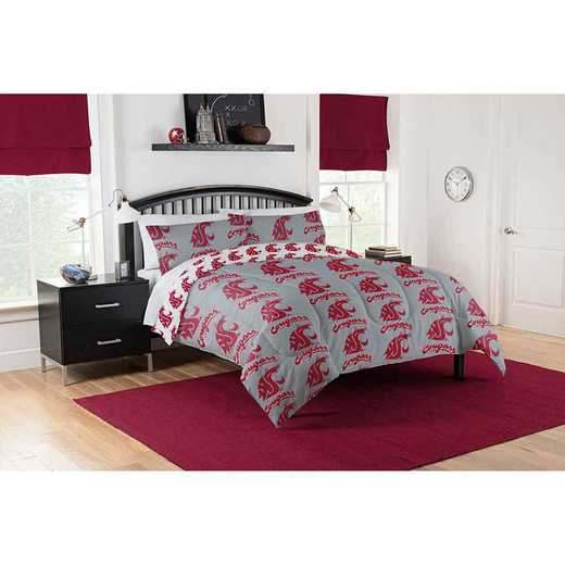 1COL875000017EDC: COL 875 Washington State Cougars Queen Bed In a Bag Set