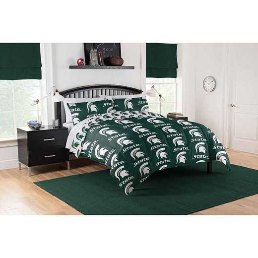 1COL875000031EDC: COL 875 Michigan State Spartans Queen Bed In a Bag Set