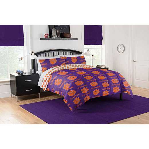 1COL875000033EDC: COL 875 Clemson Tigers Queen Bed In a Bag Set