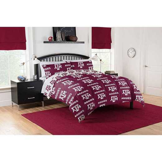 1COL875000034EDC: COL 875 Texas A&M Aggies Queen Bed In a Bag Set