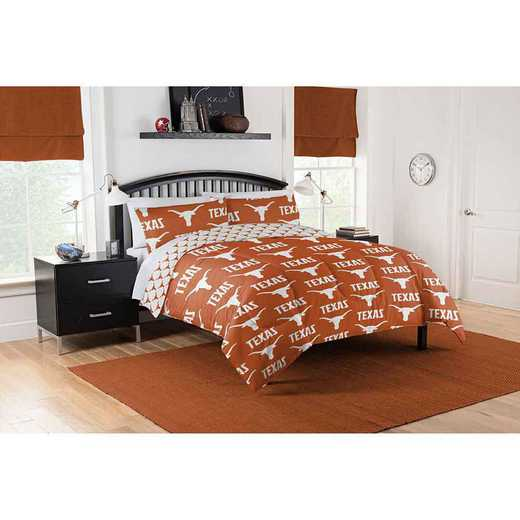 1COL875000036EDC: COL 875 Texas Longhorns Queen Bed In a Bag Set