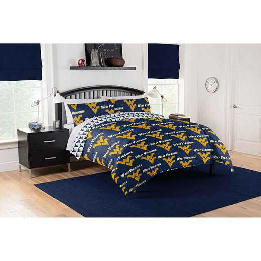 1COL875000038EDC: COL 875 West Virginia Mountaineers Queen Bed In a Bag Set