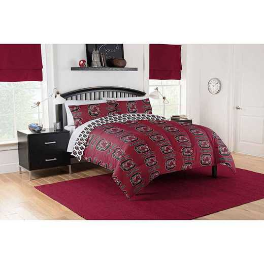 1COL875000042EDC: COL 875 South Carolina Gamecocks Queen Bed In a Bag Set