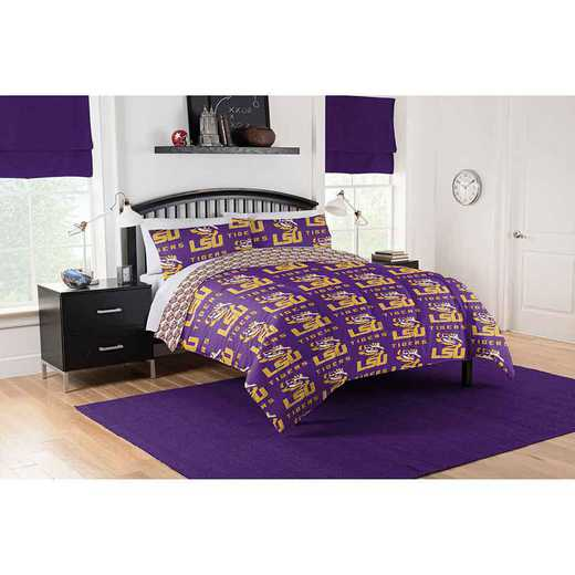 1COL875000046EDC: COL 875 LSU Tigers Queen Bed In a Bag Set