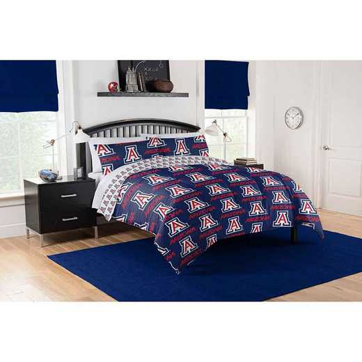 1COL875000051EDC: COL 875 Arizona Wildcats Queen Bed In a Bag Set