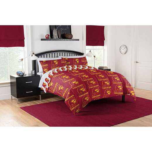 1COL875000068EDC: COL 875 Southern Cal Trojans Queen Bed In a Bag Set