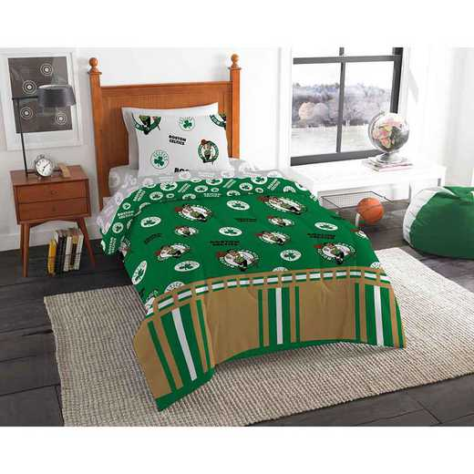 1NBA808000002EDC: NBA 808 Boston Celtics Twin Bed In a Bag Set