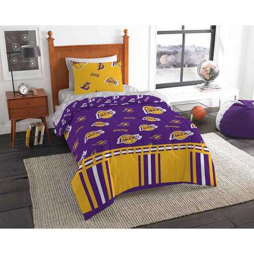 1NBA808000013EDC: NBA 808 LA Lakers Twin Bed In a Bag Set