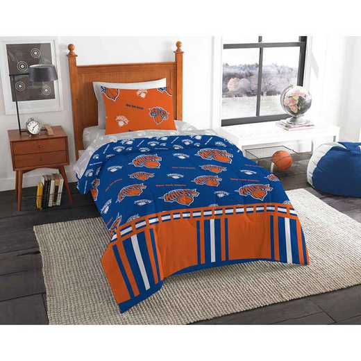 1NBA808000018EDC: NBA 808 New York Knicks Twin Bed In a Bag Set