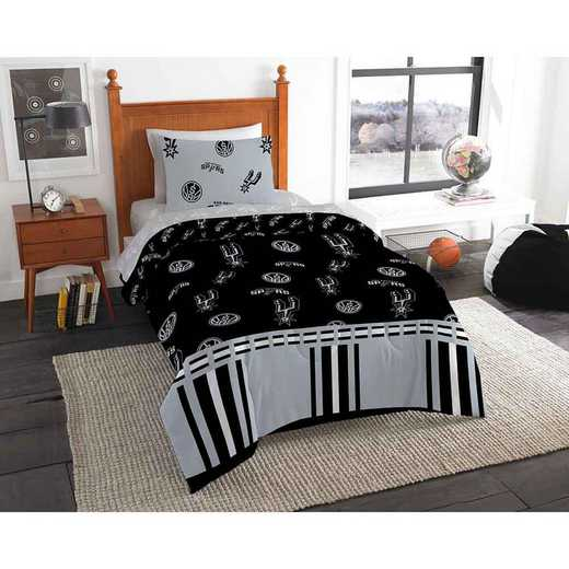1NBA808000024EDC: NBA 808 San Antonio Spurs Twin Bed In a Bag Set