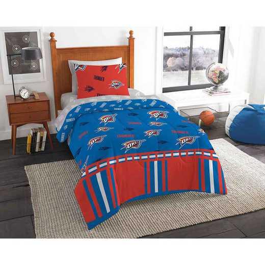1NBA808000033EDC: NBA 808 OKC Thunder Twin Bed In a Bag Set