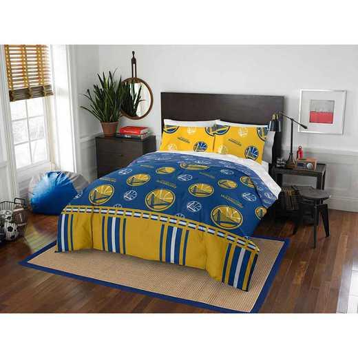 1NBA864000009EDC: NBA 864 Golden State Warriors Full Bed In a Bag Set