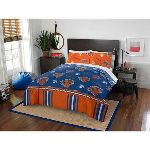 1NBA864000018EDC: NBA 864 New York Knicks Full Bed In a Bag Set