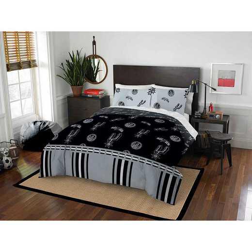 1NBA864000024EDC: NBA 864 San Antonio Spurs Full Bed In a Bag Set