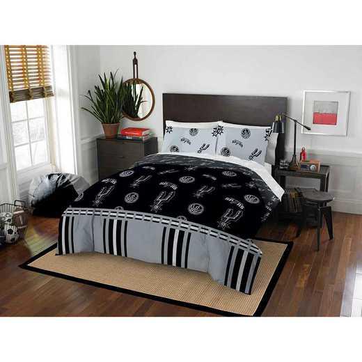 1NBA875000024EDC: NBA 875 San Antonio Spurs Queen Bed In a Bag Set