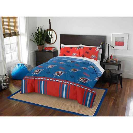 1NBA875000033EDC: NBA 875 Okc Thunder Queen Bed In a Bag Set