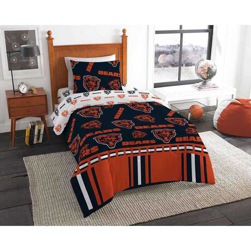 1NFL808000001EDC: NFL 808 Chicago Bears Twin Bed In a Bag Set