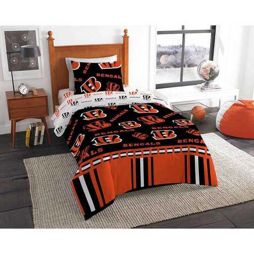 1NFL808000002EDC: NFL 808 Cincinnati Bengals Twin Bed In a Bag Set