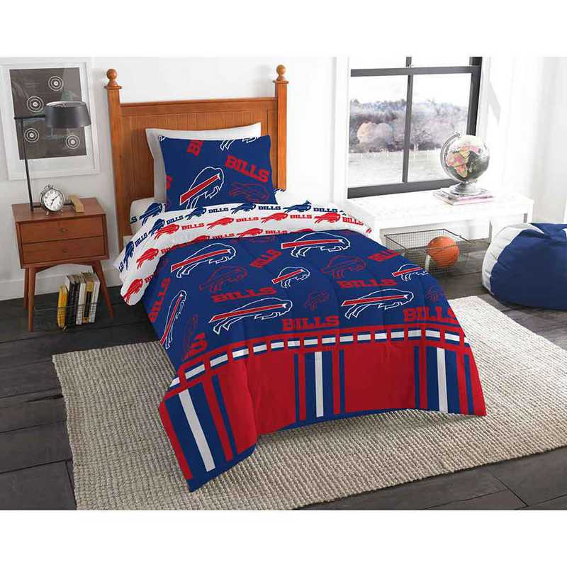 1NFL808000003EDC: NFL 808 Buffalo Bills Twin Bed In a Bag Set