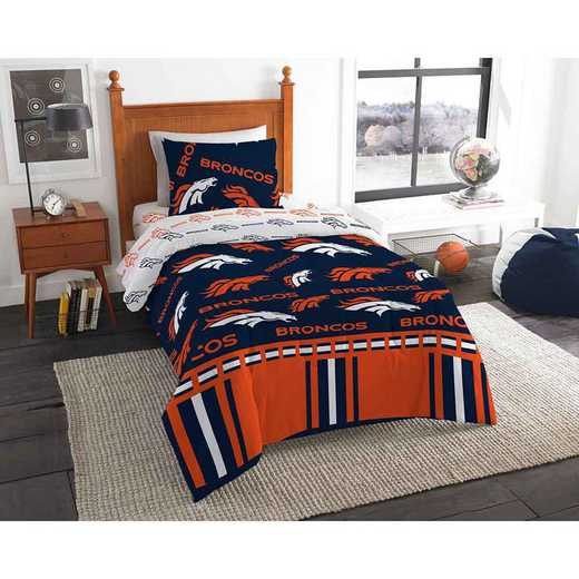1NFL808000004EDC: NFL 808 Denver Broncos Twin Bed In a Bag Set