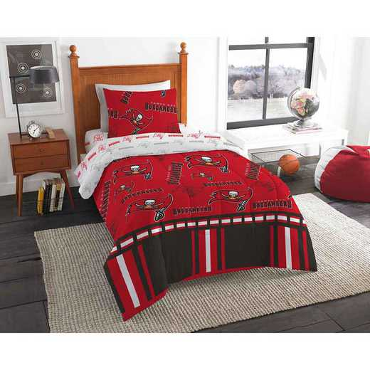 1NFL808000006EDC: NFL 808 Tampa Bay Buccaneers Twin Bed In a Bag Set