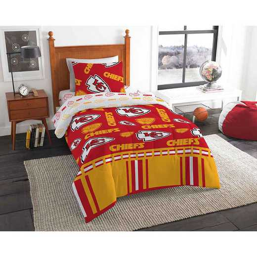 1NFL808000007EDC: NFL 808 Kansas City Chiefs Twin Bed In a Bag Set