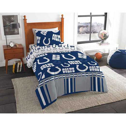 1NFL808000008EDC: NFL 808 Indianapolis Colts Twin Bed In a Bag Set