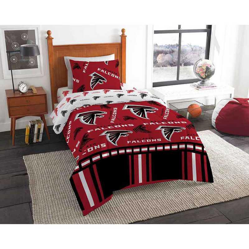 1NFL808000012EDC: NFL 808 Atlanta Falcons Twin Bed In a Bag Set