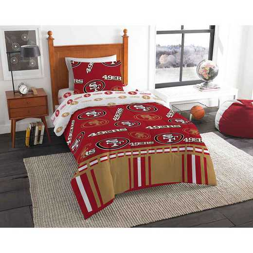 1NFL808000013EDC: NFL 808 San Francisco 49ers Twin Bed In a Bag Set