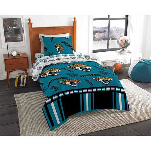 1NFL808000014EDC: NFL 808 Jacksonville Jaguars Twin Bed In a Bag Set