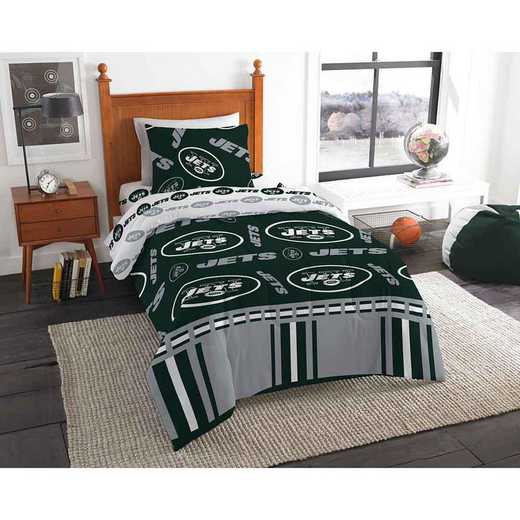 1NFL808000015EDC: NFL 808 New York Jets Twin Bed In a Bag Set