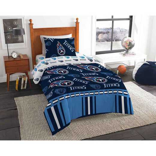1NFL808000016EDC: NFL 808 Tennessee Titans Twin Bed In a Bag Set