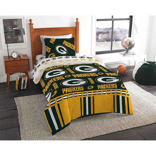 1NFL808000017EDC: NFL 808 Green Bay Packers Twin Bed In a Bag Set