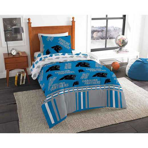 1NFL808000018EDC: NFL 808 Carolina Panthers Twin Bed In a Bag Set