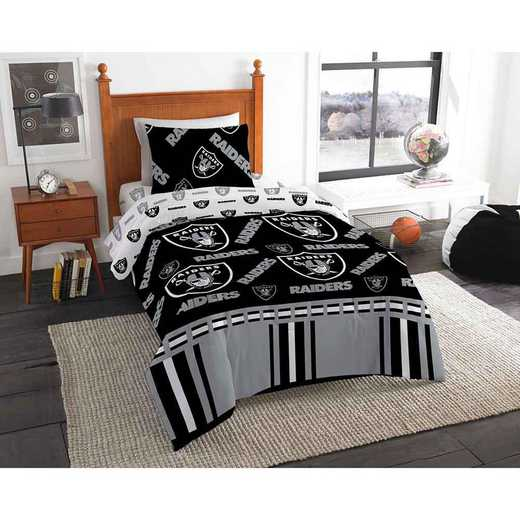 1NFL808000019EDC: NFL 808 Oakland Raiders Twin Bed In a Bag Set