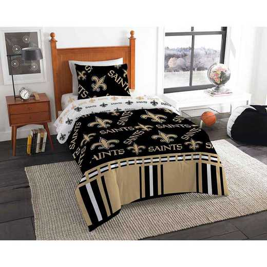 1NFL808000021EDC: NFL 808 New Orleans Saints Twin Bed In a Bag Set