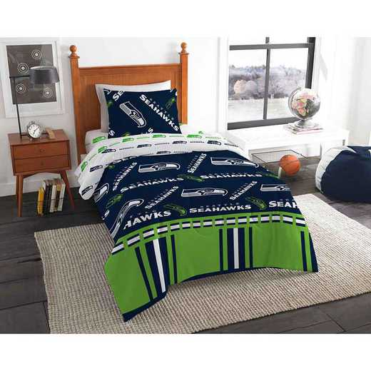1NFL808000022EDC: NFL 808 Seattle Seahawks Twin Bed In a Bag Set