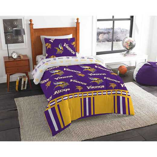 1NFL808000023EDC: NFL 808 Minnesota Vikings Twin Bed In a Bag Set