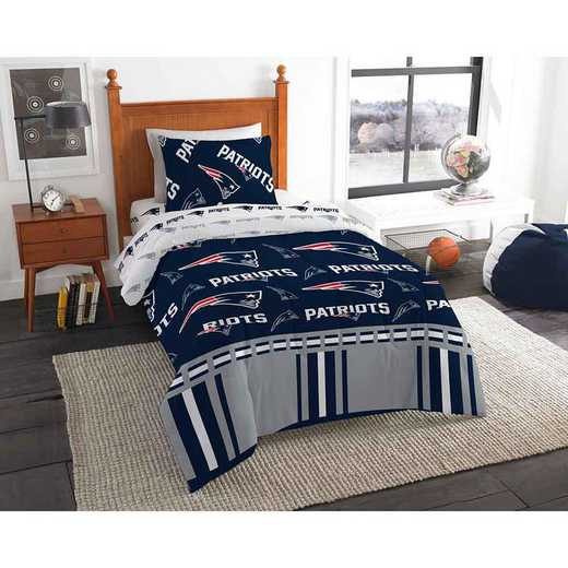 1NFL808000076EDC: NFL 808 New England Patriots Twin Bed In a Bag Set