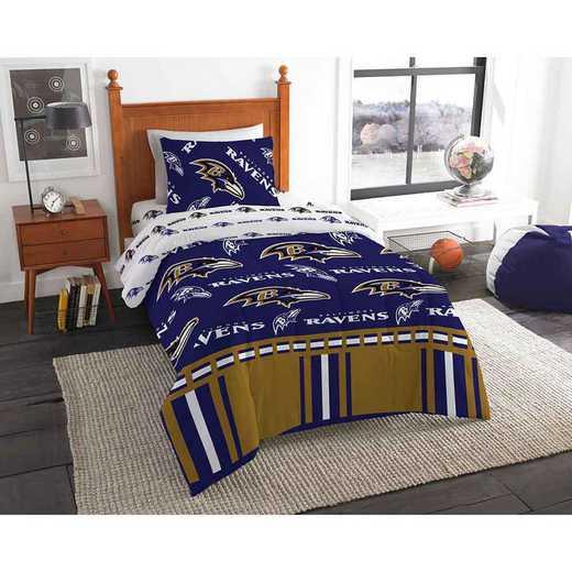 1NFL808000077EDC: NFL 808 Baltimore Ravens Twin Bed In a Bag Set