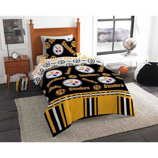 1NFL808000078EDC: NFL 808 Pittsburgh Steelers Twin Bed In a Bag Set