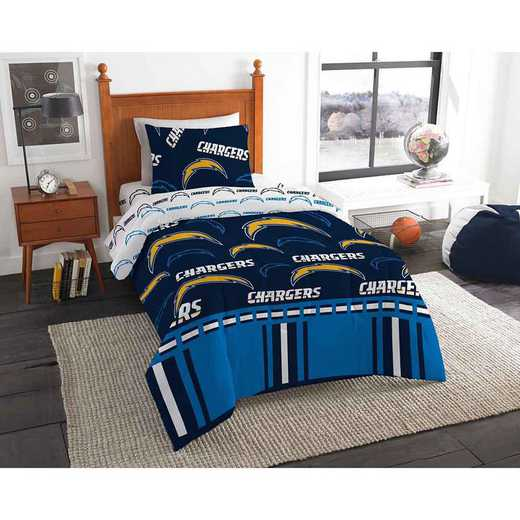 1NFL808000079EDC: NFL 808 La Chargers Twin Bed In a Bag Set
