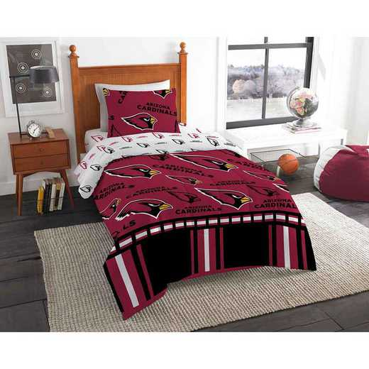1NFL808000080EDC: NFL 808 Arizona Cardinals Twin Bed In a Bag Set
