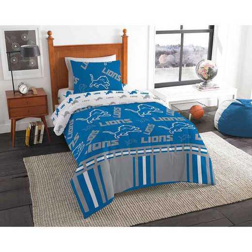1NFL808000082EDC: NFL 808 Detroit Lions Twin Bed In a Bag Set