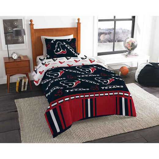 1NFL808000119EDC: NFL 808 Houston Texans Twin Bed In a Bag Set
